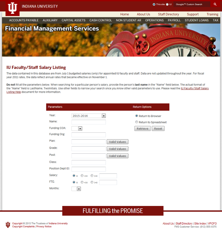 Indiana University Faculty and Staff Salary Listing | All IU