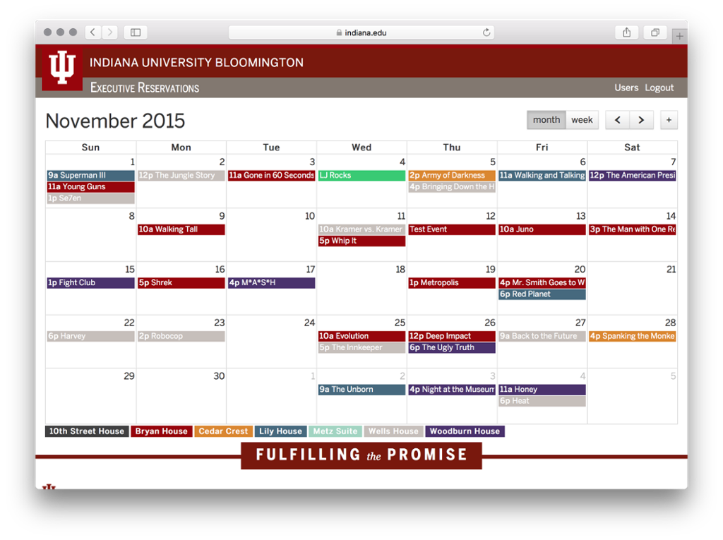 Calendar Example