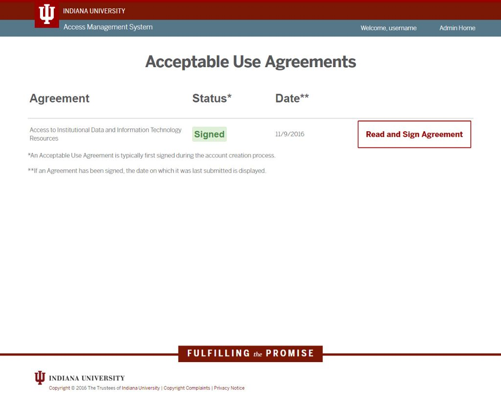 Acceptable Use Agreements All Iu Campuses Oneiu