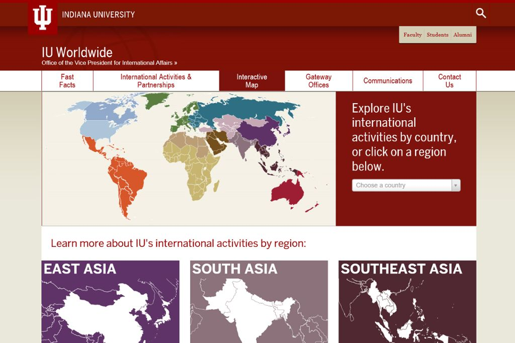 Interactive World Map All IU Campuses OneIU