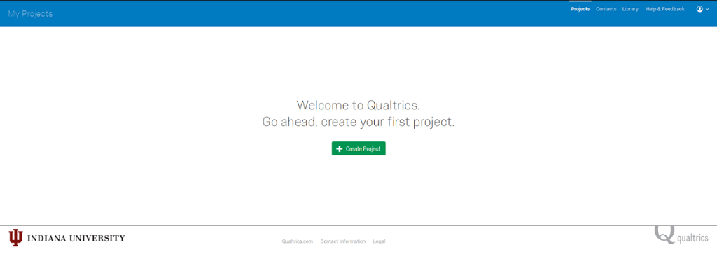 IU Qualtrics Post Login Page