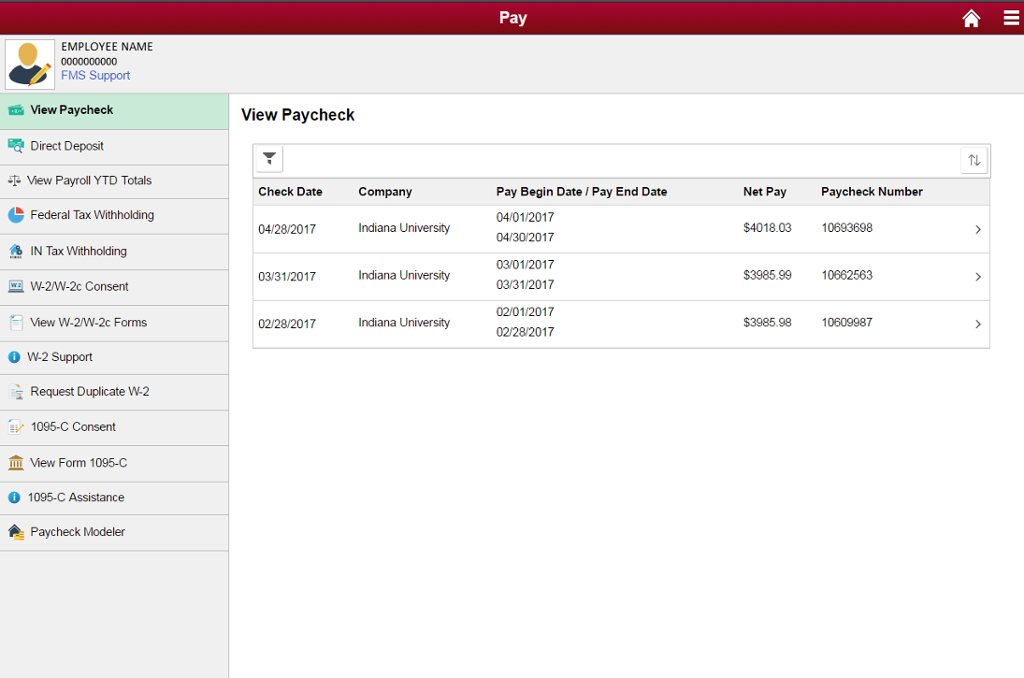 Paycheck Details | All IU Campuses | One IU