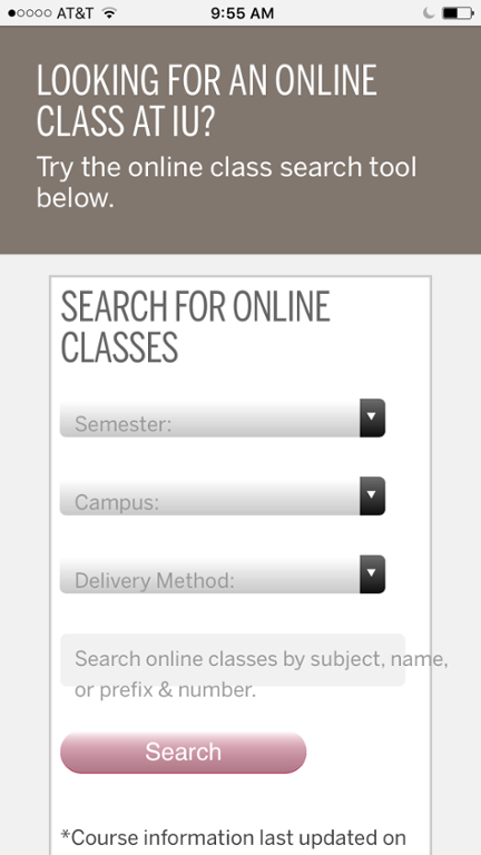 class search on mobile phone